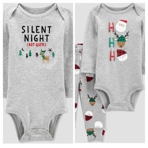 NWT Carter's Baby Christmas Outfit Bundle